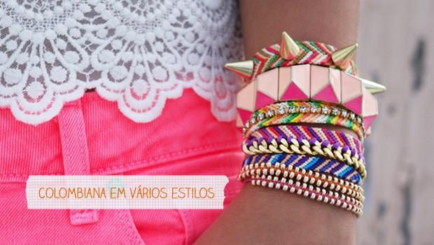Pulseira colombiana em vários estilos