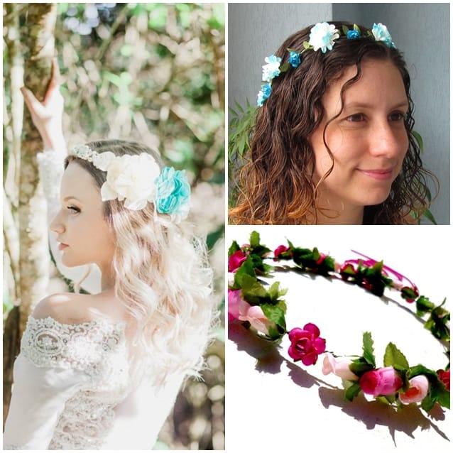 headbands-coroas de flores