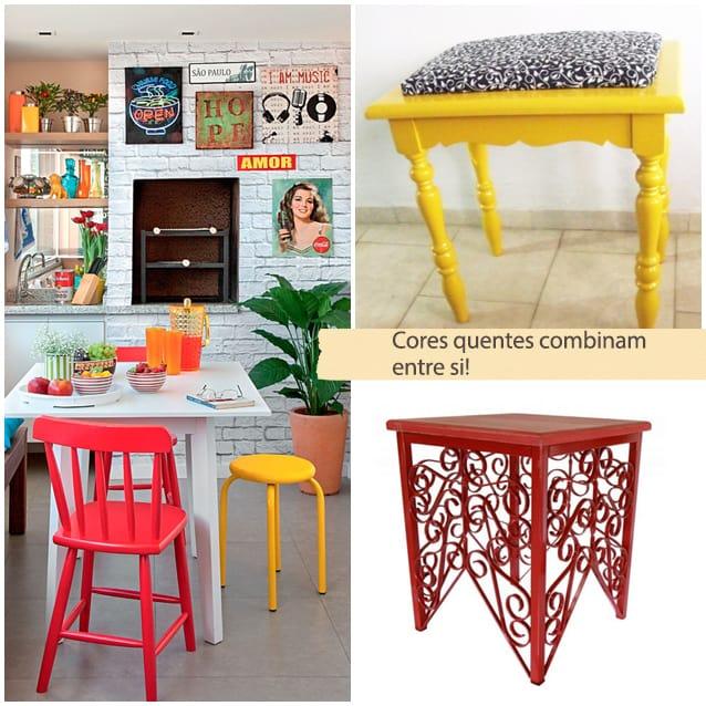 combinar cores na decoracao
