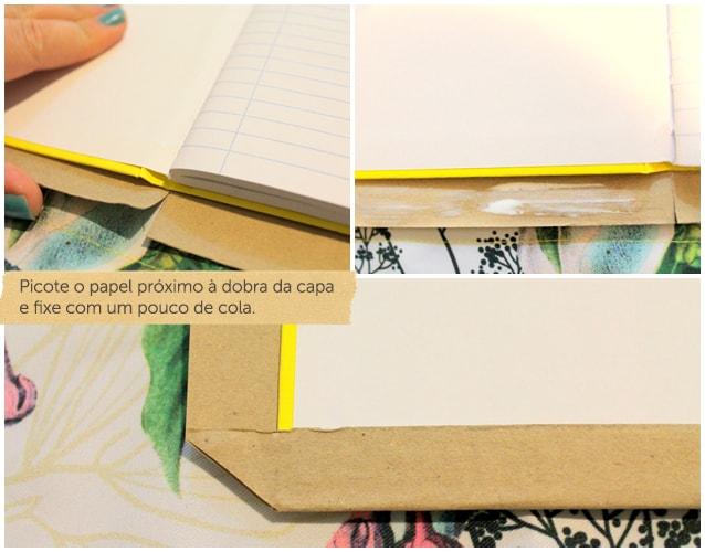 como encapar caderno