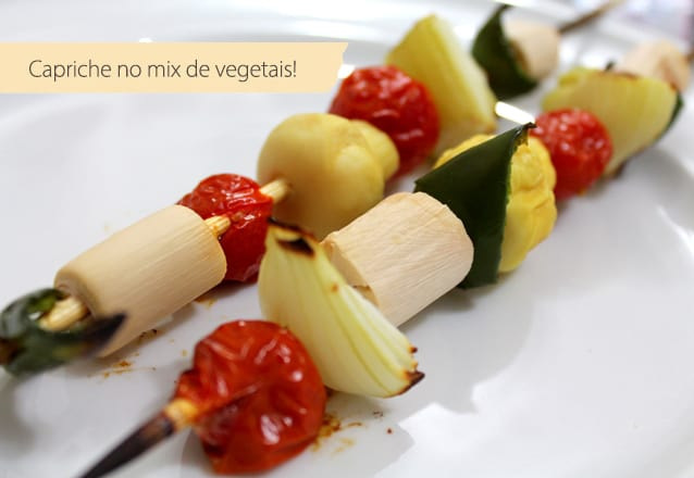 espetinho vegetariano