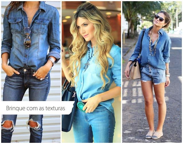 tendência jeans com jeans