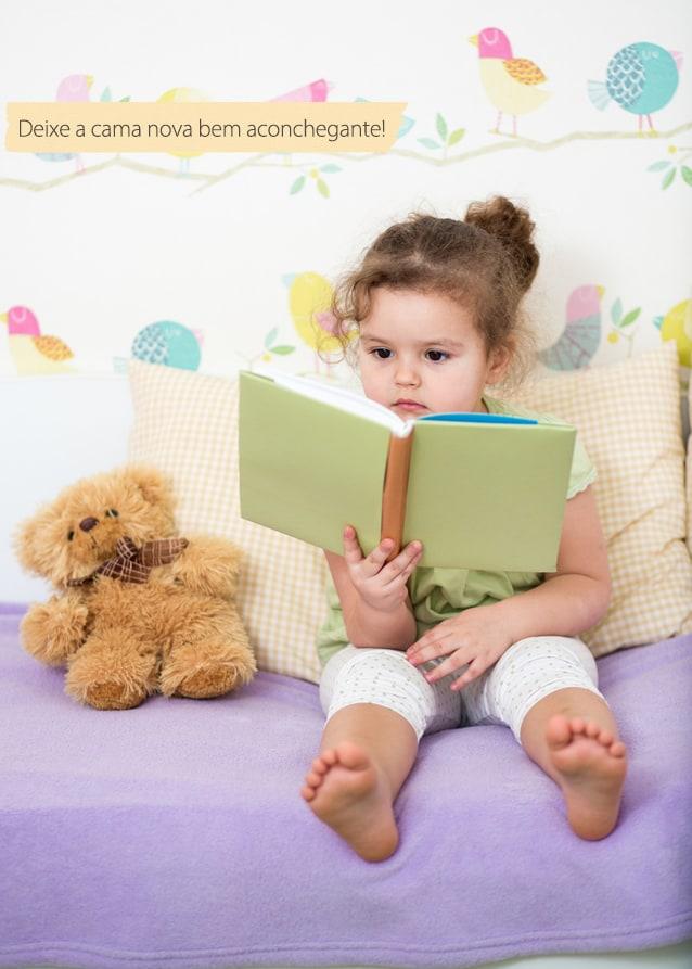 kid girl reading story for teddy bear