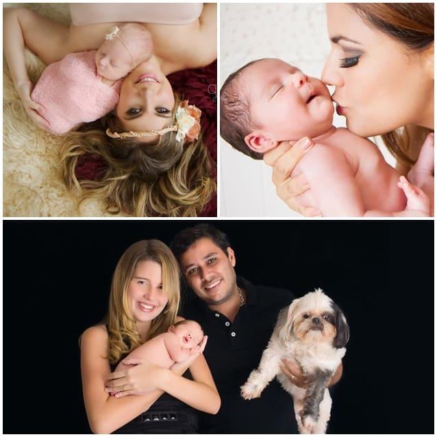 Ensaio newborn com famosas