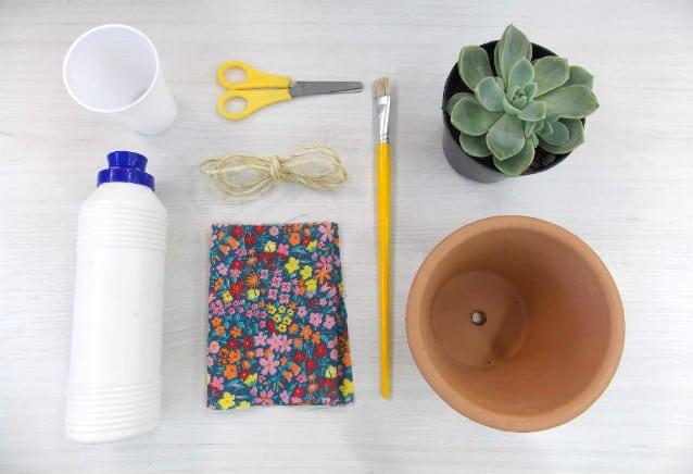Vaso de suculenta decorado: faça você mesma 1