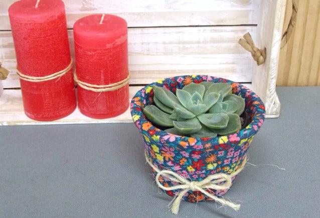 Vaso de suculenta decorado: faça você mesma 4