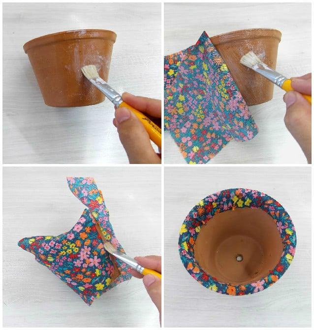 Vaso de suculenta decorado: faça você mesma 2