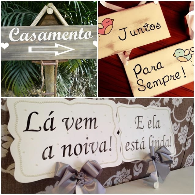 placas de casamento