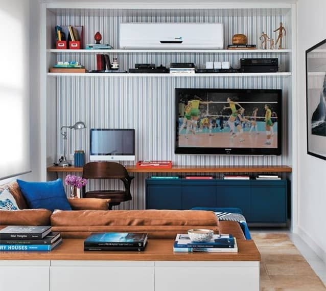 Organize os objetos da sala