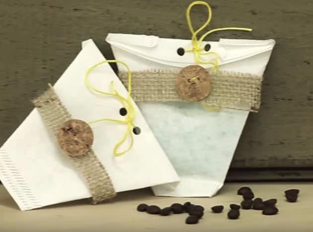 Embalagem de presente com filtro de café