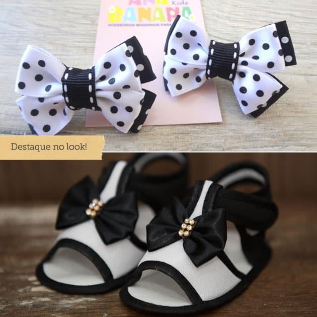 moda preto e branco pra criança
