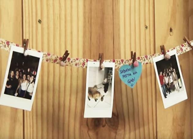 criar um varal de fotos e lembranças