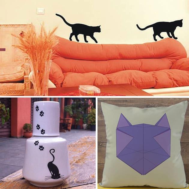 Decoração com tema de gatos