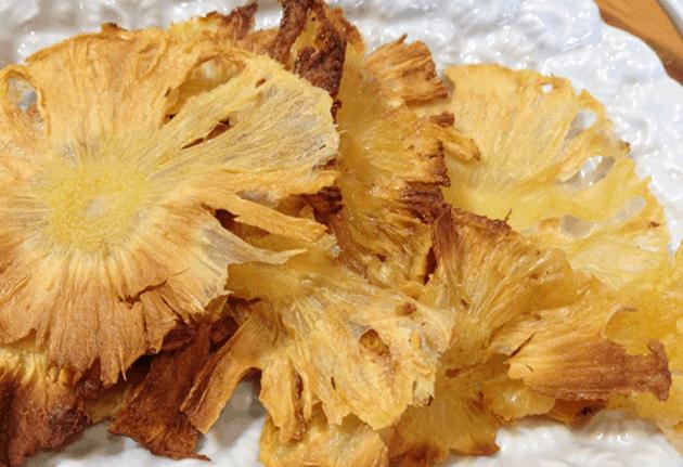 chips de abacaxi