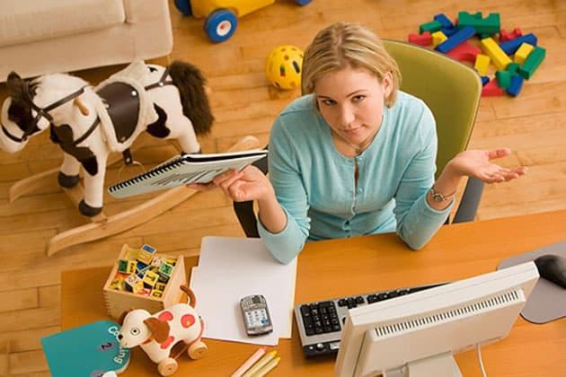 home office com filhos
