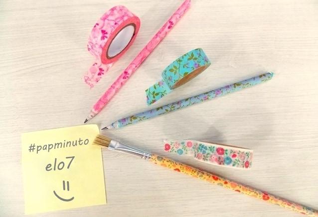 papminuto renove os lápis com washi tape