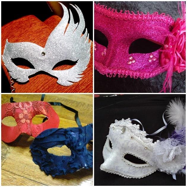 máscara para os noivos