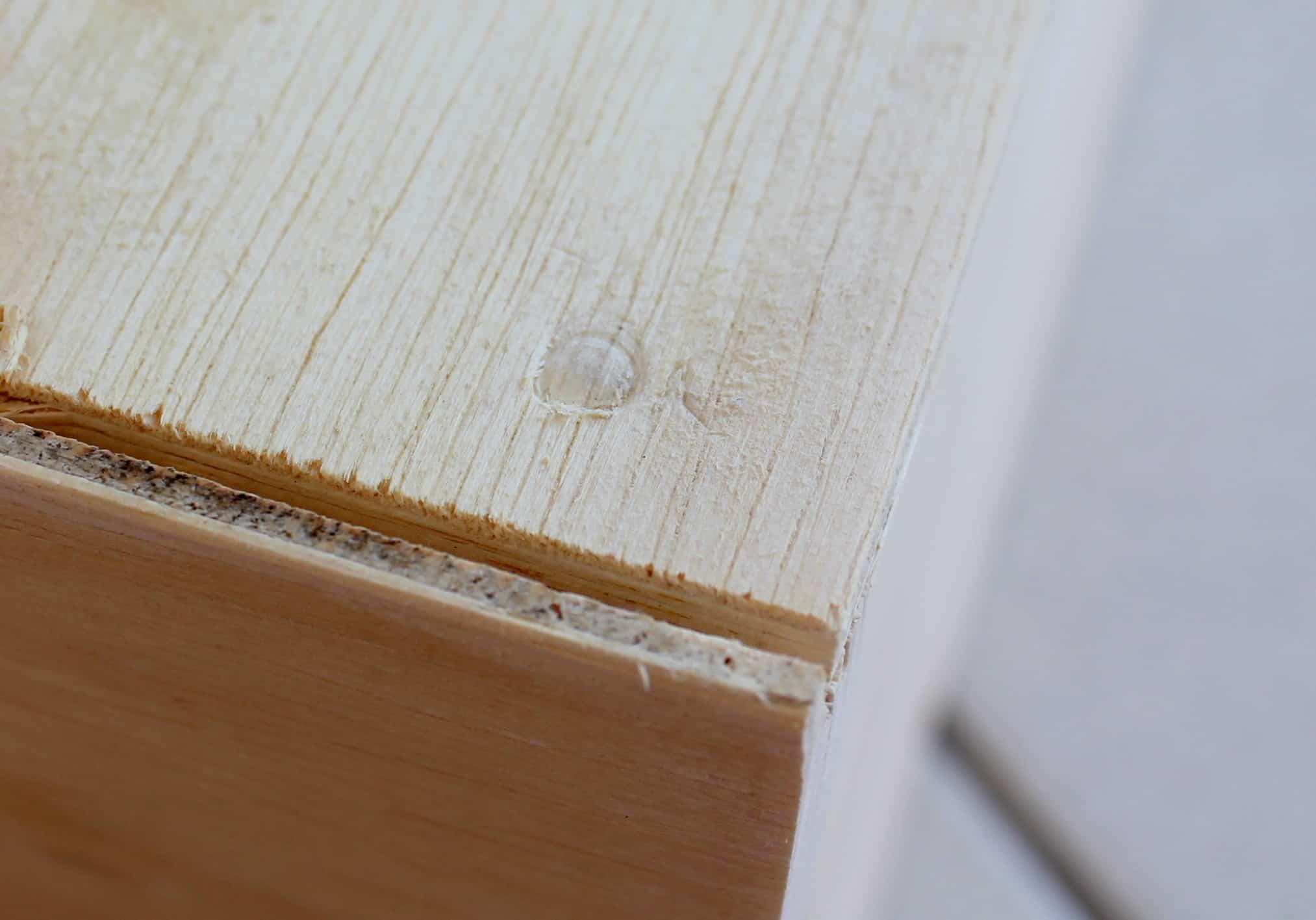 sapateira a partir de uma gaveta - marque a madeira