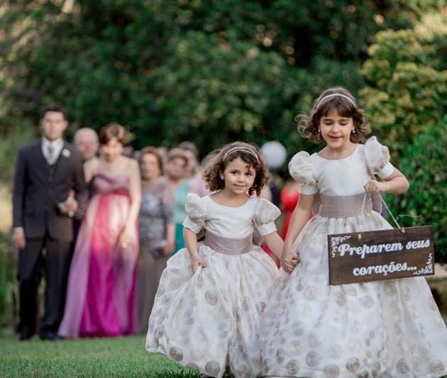 festa de casamento com filhos
