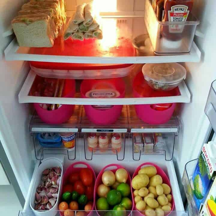 como organizar a geladeira - -
