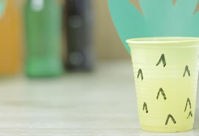 Copo de abacaxi