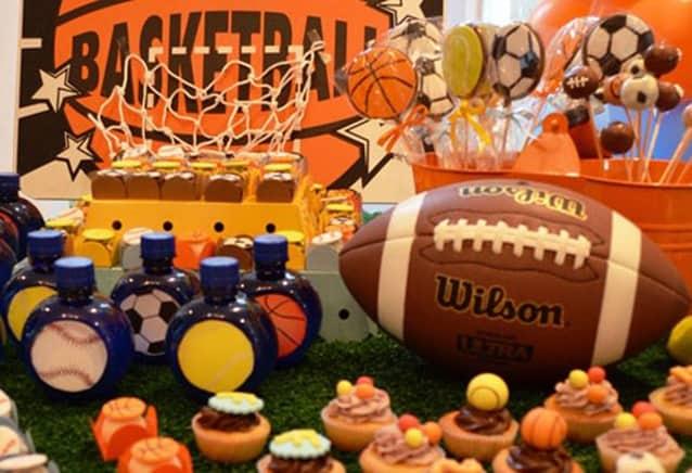 festa bolas esportivas