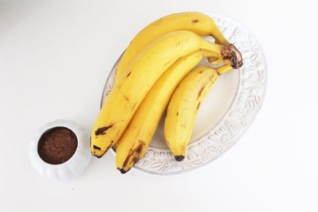 sorvete de banana com cacau