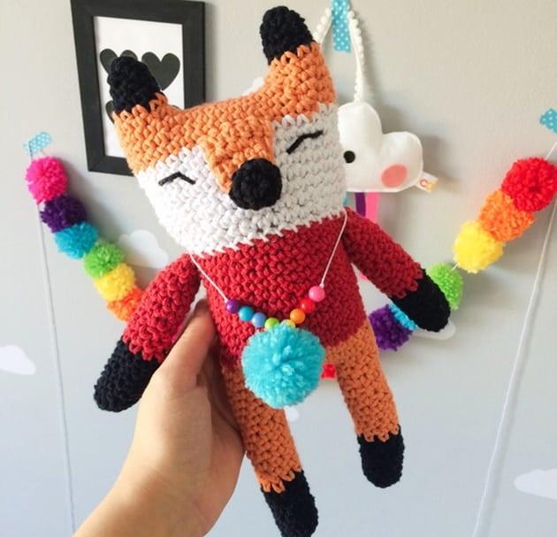 amigurumi o que é raposa