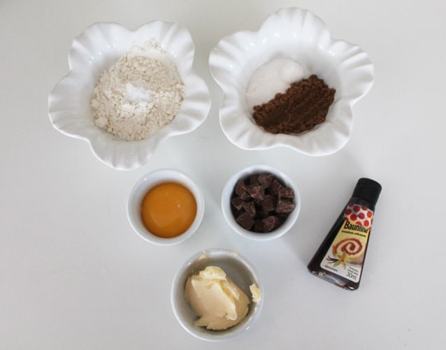 cookie de caneca ingredientes