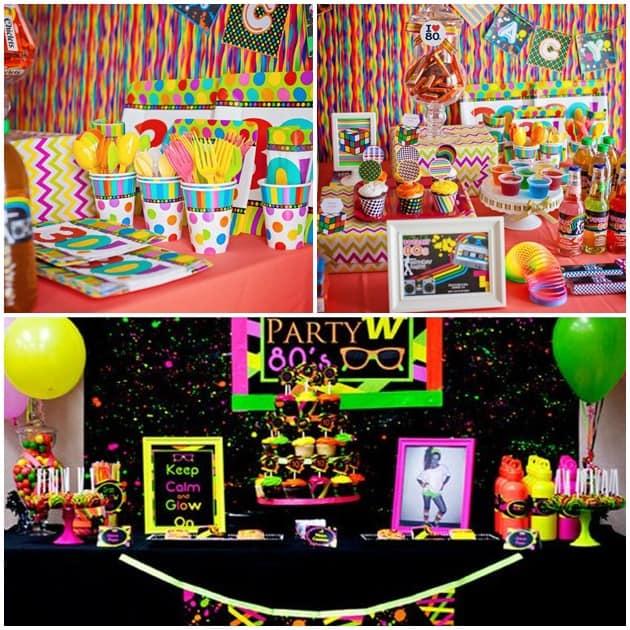 festa anos 80 cardápio