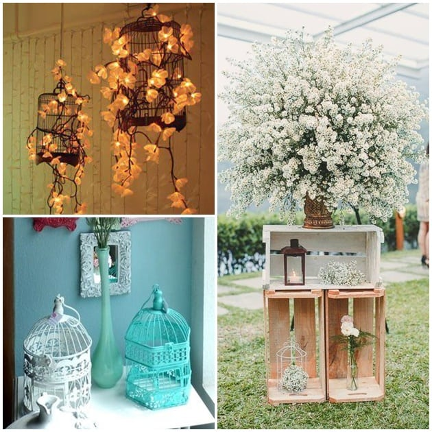gaiolas na decoração ideias