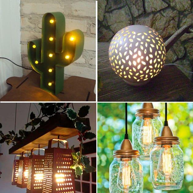 luminárias criativas com reaproveitamento 2