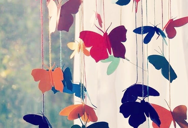 móbiles criativos borboletas