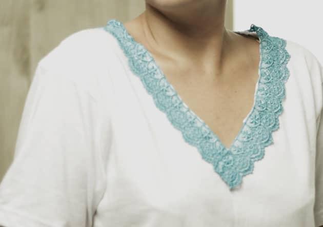 como customizar gola de camiseta