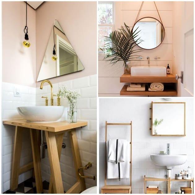 decoração do banheiro escandinava