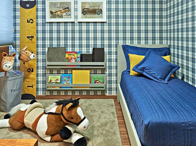 quarto infantil xadrez