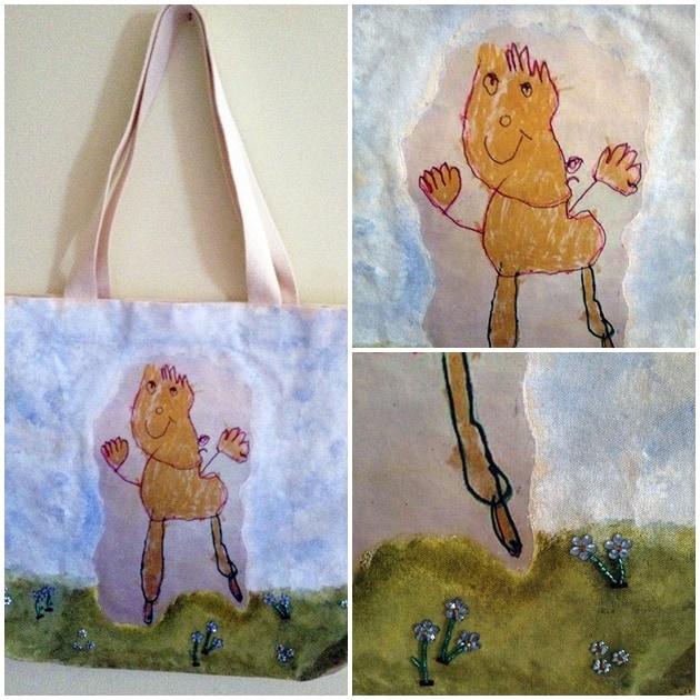 desafio de desenho infantil sacola boneco