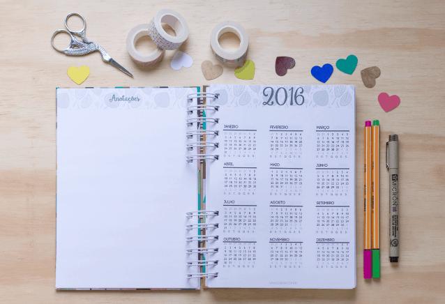 Como organizar seu ano e suas metas
