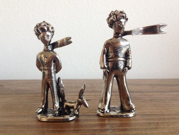 miniaturas pequeno-principe-e-a-raposa-miniatura-metalico