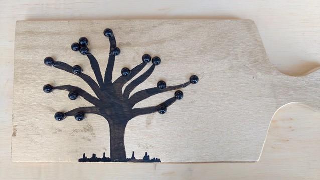árvore feita com contas 3