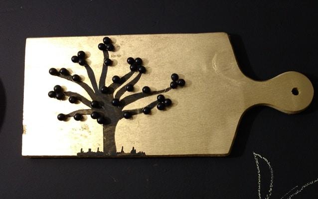 árvore feita com contas 4