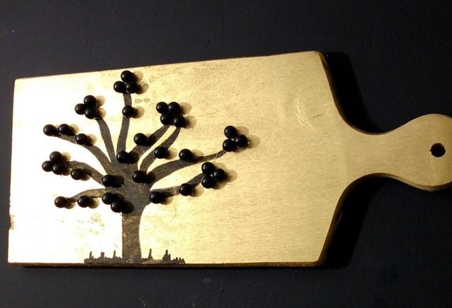 árvore feita com contas quadro
