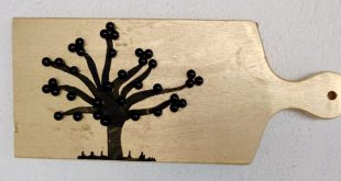 árvore feita com contas como fazer