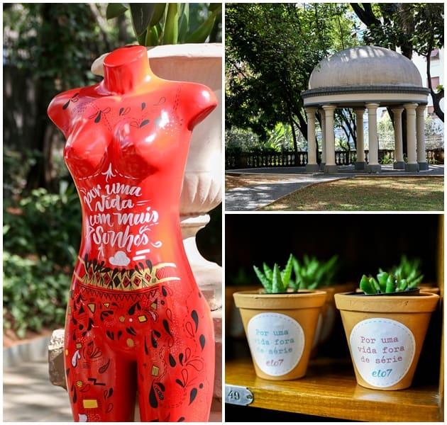 Espaço charmoso no coração de São Paulo: decoração e dias lindos foram elementos extras do bazar!