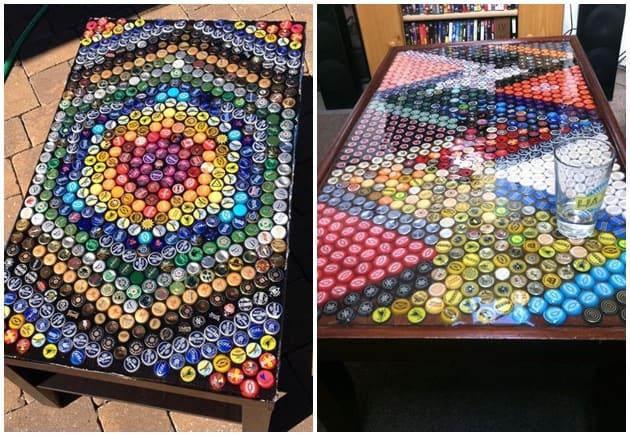 cerveja na decoração mesas