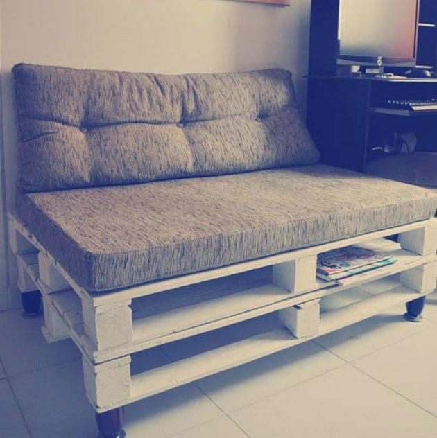 decorar com pallet sofa