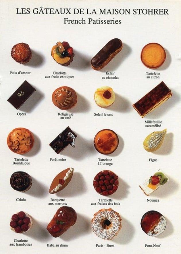 Doces típicos da confeitaria francesa
