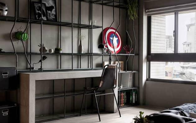 quarto com super-heróis