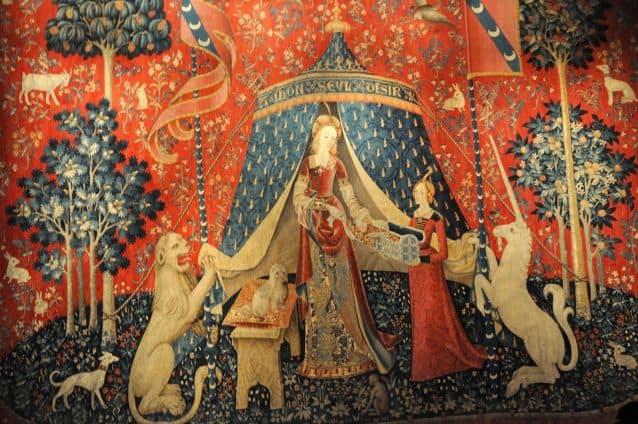 tapeçaria dama e o unicornio