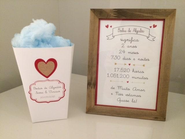 ideias para bodas de algodão como comemorar